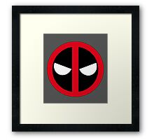 Angry Deadpool Icon  Framed Print