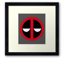 Bored Deadpool Icon  Framed Print