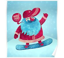 Snowboarding Christmas Poster