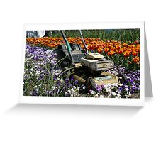 Time to Mow Greeting Card