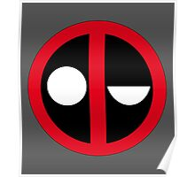 Confused Deadpool Icon  Poster