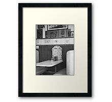 Inside Ed's Cafe Framed Print