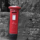 Post box in wall darley dale peak district by Dave Warren