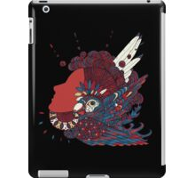 A girl with feathers in her hair iPad Case/Skin