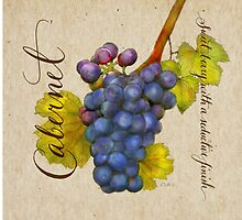 Wine Country Varietal Line from FountainArts™ Cabernet by Carol Fountain Nix
