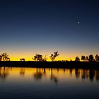 River Murray Sunset by pmitchell