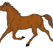 Horse Galloping by kwg2200