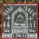 Lord Ganesha-Folk art painting from India by ampar81