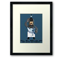 Bedevere - Monty Python and the Holy Pixel Framed Print