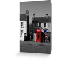 Red With A Hint Of Blue Greeting Card