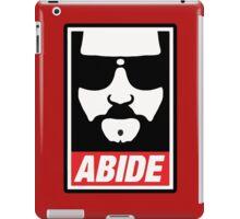 The big lebowski - Abide poster shepard fairey style iPad Case/Skin