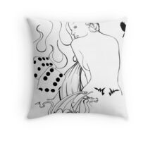 lady fate Throw Pillow