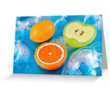 Fruit Soaps Greeting Card