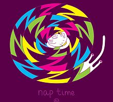 Psychedelic sleeping cat by Andrei Verner