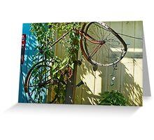 Bike Up A Tree Greeting Card