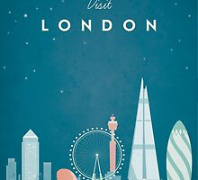 Vintage London Travel Poster by wetcake