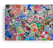 Stamps From the Past Canvas Print
