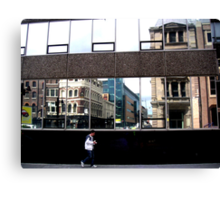 lone figure in City Canvas Print