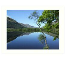 mirror calm scottish loch   Art Print