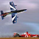 Frecce Tricolori verses Ferrari by Bob Martin