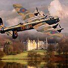 Lancaster over Scotland by Bob Martin
