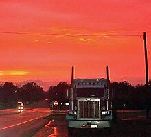 Big Rig @ Sunset by lcjane