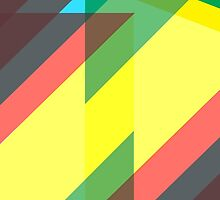 colourful geometric pattern by opul