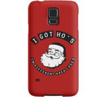 I got ho's in different area codes - Santa Claus (father Christmas xmas) Samsung Galaxy Case/Skin