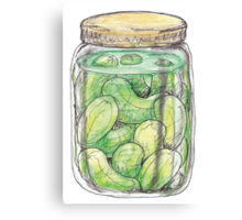 Pickle Jar heaven Canvas Print