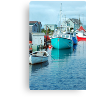 Boating Village Canvas Print