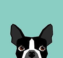 Logan - Boston Terrier pet design with bold and modern colors for pet lovers by PetFriendly
