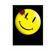 Watchmen Smiley Face Art Print