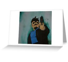 """""""look me in the eye and tell me i'm crazy"""" Greeting Card"""