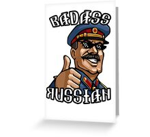 Stalin - Badass Russian Greeting Card
