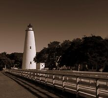 Ocracoke Lighthouse, North Carolina Outer Banks by Tom Michael Thomas
