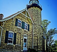 White River Lightouse Station, Whitehall, Michigan by Kathy Russell