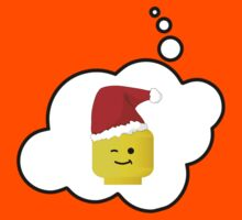 Santa Minifig Head by Bubble-Tees.com Kids Clothes
