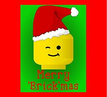 Merry Christmas Santa Minifig by Customize My Minifig by Customize My Minifig