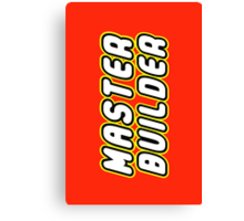 MASTER BUILDER by Customize My Minifig Canvas Print
