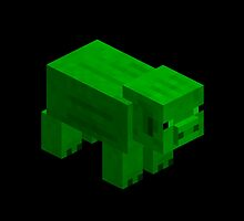 GREEN PIG  by ChilleeW