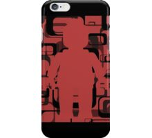 Retro Minifig Art  iPhone Case/Skin