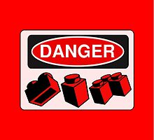 Danger Bricks Sign  by ChilleeW