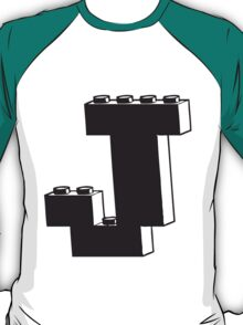THE LETTER J by Customize My Minifig T-Shirt