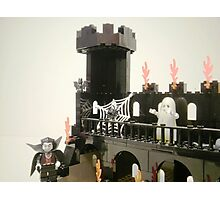 Horror Castle with Ghost Minifig Photographic Print