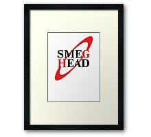 Smeg Head Black Framed Print