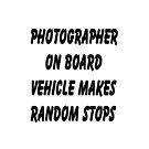 Photographer on board vehicle makes random stops by Tony  Bazidlo