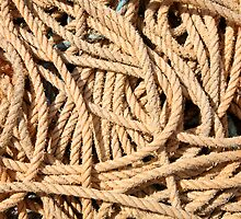Old fishing boat rope. by britishphotos