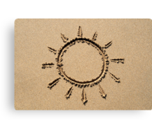 Sun symbol. Canvas Print