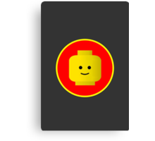 MINIFIG HAPPY FACE Canvas Print