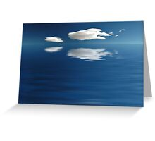 Cloudy Waters Greeting Card